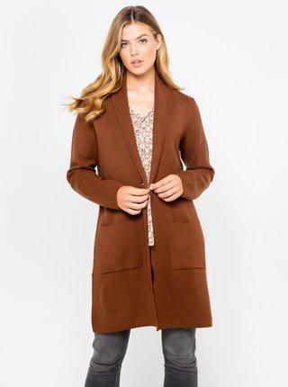 Hnedý ľahký kabát CAMAIEU