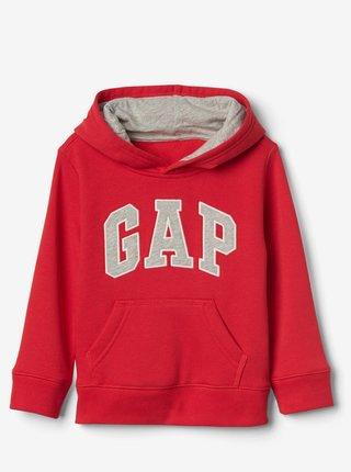 Červená klučičí dětská mikina GAP Logo hoodie sweatshirt