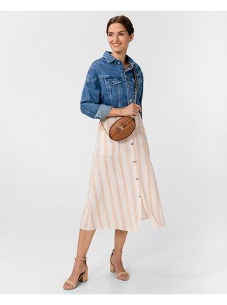Šaty na denné nosenie pre ženy Pepe Jeans - béžová