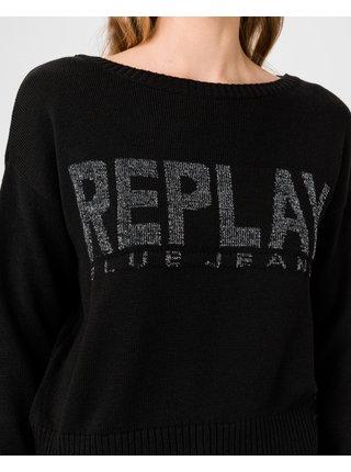 Svetre pre ženy Replay - čierna