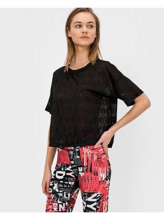 Tričká s krátkym rukávom pre ženy DKNY - čierna