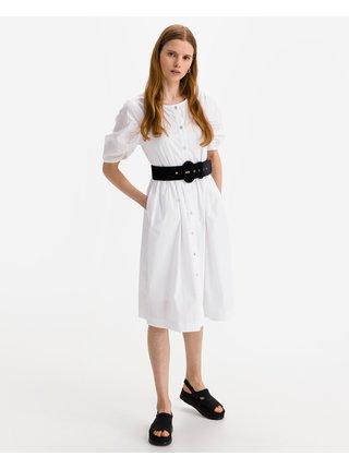 Košeľové šaty pre ženy ICHI - biela