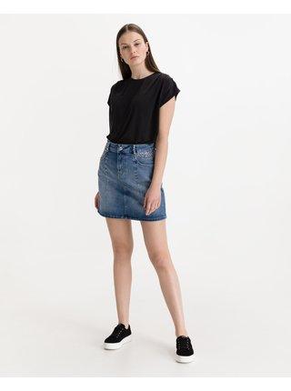 Tričká s krátkym rukávom pre ženy ICHI - čierna