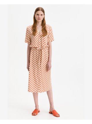 Košeľové šaty pre ženy ICHI - oranžová