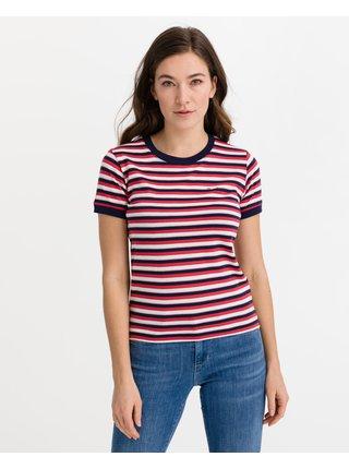 Tričká s krátkym rukávom pre ženy Pepe Jeans - červená, biela
