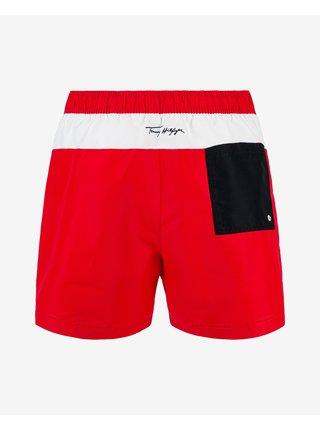 Plavky pre mužov Tommy Hilfiger - červená