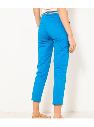 Modré zkrácené kalhoty s páskem CAMAIEU