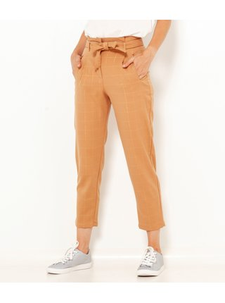 Béžové zkrácené kalhoty CAMAIEU