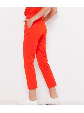 Oranžové zkrácené kalhoty CAMAIEU