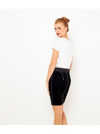 Černá sukně s kontrastním prošíváním CAMAIEU