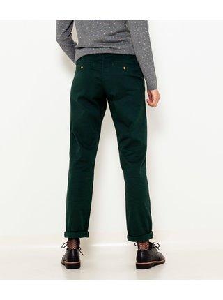 Tmavě zelené kalhoty CAMAIEU