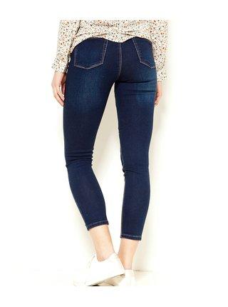 Tmavě modré zkrácené džíny CAMAIEU