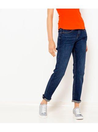 Tmavě modré zkrácené mom džíny CAMAIEU