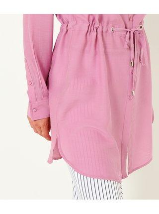 Růžová dlouhá košile CAMAIEU