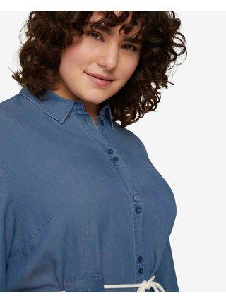 Móda pre plnoštíhle pre ženy Tom Tailor - modrá