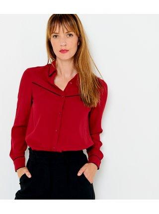 Červená košile s černým lemováním CAMAIEU