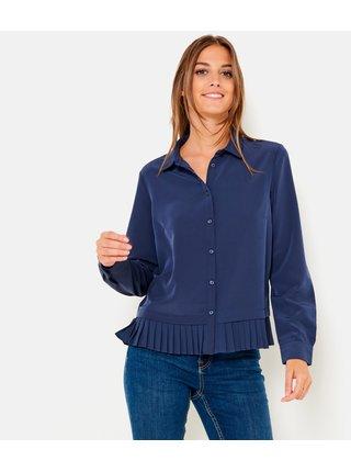 Tmavě modrá košile s plisovanou spodní částí CAMAIEU