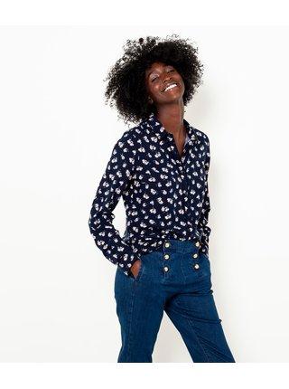 Tmavomodrá kvetovaná košeľa CAMAIEU