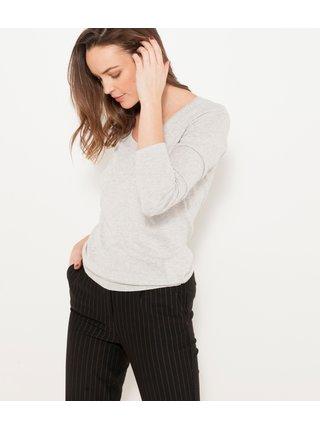 Svetlošedý ľahký sveter CAMAIEU