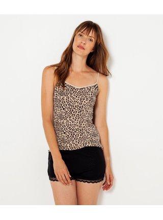 Béžové tílko s leopardím vzorem CAMAIEU