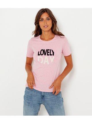 Růžové tričko s potiskem CAMAIEU