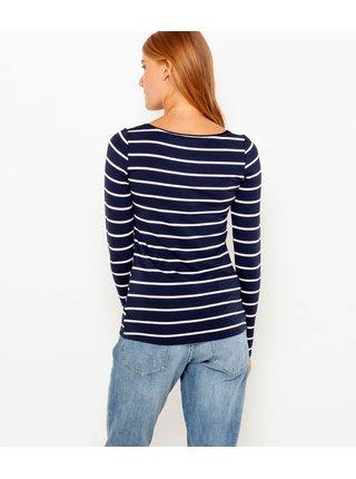 Tmavě modré pruhované tričko CAMAIEU