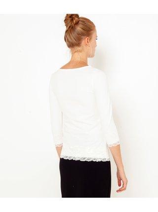 Biele tričko s krajkou CAMAIEU