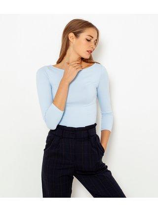 Světle modré basic tričko CAMAIEU