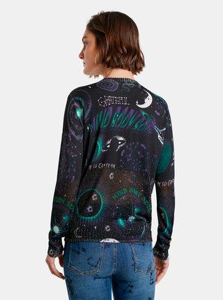 Čierny dámsky ľahký sveter s motívom Desigual Toronto