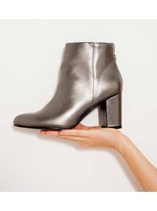 Kotníkové boty ve stříbrné barvě CAMAIEU
