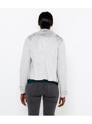 Krémová bunda z umelého kožúšku CAMAIEU