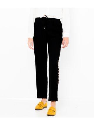 Černé kalhoty s lampasem CAMAIEU