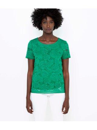 Zelená průsvitná halenka CAMAIEU