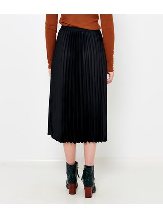 Černá plisovaná midi sukně CAMAIEU