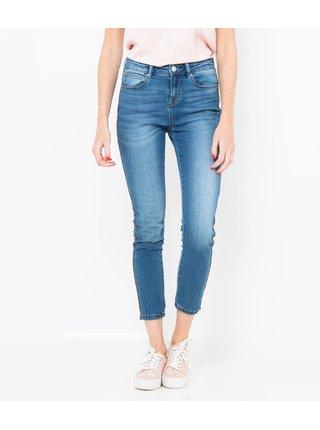 Světle modré skinny fit zkrácené džíny CAMAIEU