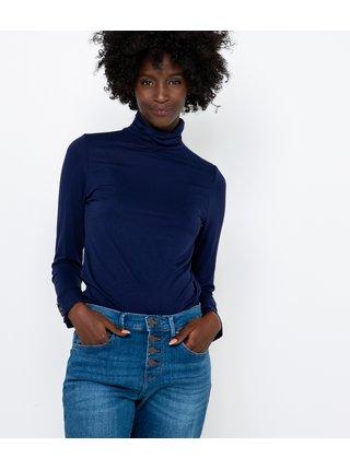 Modré tričko s rolákem CAMAIEU