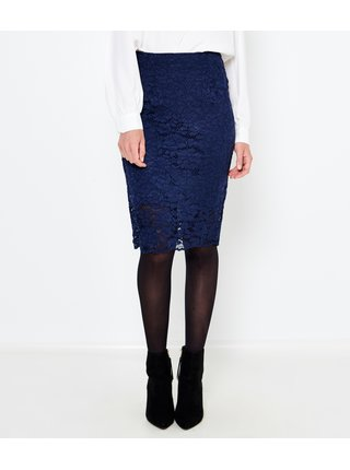 Modrá krajková sukně CAMAIEU