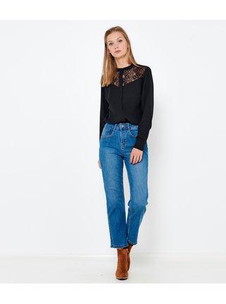 Světlé modré zkrácené straight fit džíny CAMAIEU