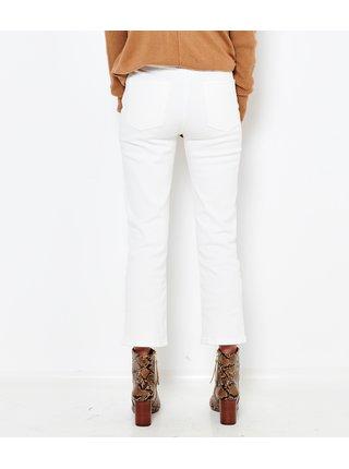 Bílé zkrácené slim fit džíny CAMAIEU