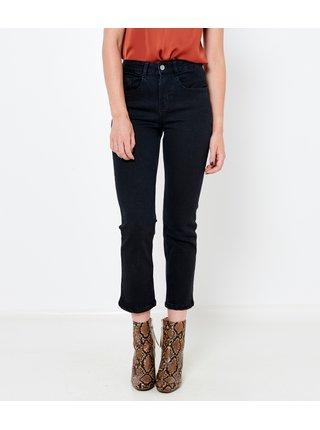 Černé zkrácené straight fit džíny CAMAIEU