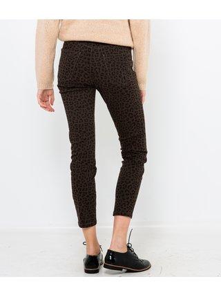 Tmavě šedé zkrácené kalhoty s leopardím vzorem CAMAIEU