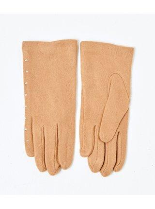 Béžové rukavice CAMAIEU