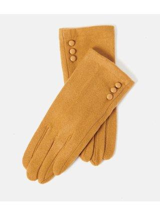 Svetlohnedé rukavice CAMAIEU