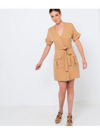 Svetlohnedé šaty CAMAIEU