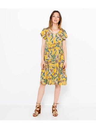 Žlté kvetované šaty CAMAIEU
