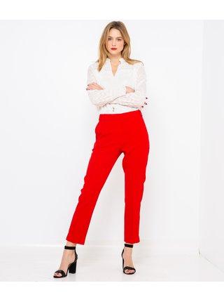 Červené zkrácené kalhoty CAMAIEU