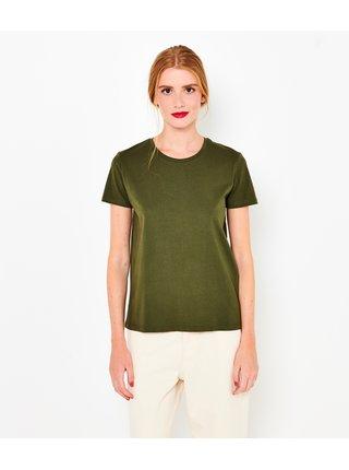 Khaki basic tričko CAMAIEU