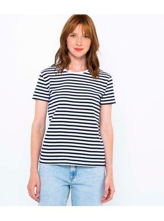 Černo-bílé pruhované basic tričko CAMAIEU