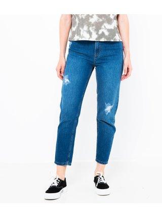 Modré mom fit džíny CAMAIEU