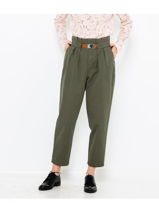 Zelené zkrácené kalhoty CAMAIEU
